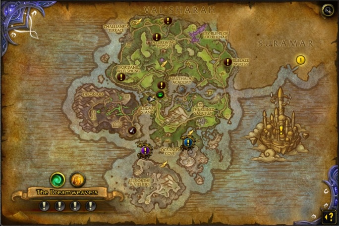 Legion World Map.Legion World Quests Quick Overview Warlock And Druid Order Hall