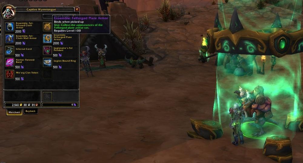 Legion Build 21691 Data Updates: Movie Transmog Rewards