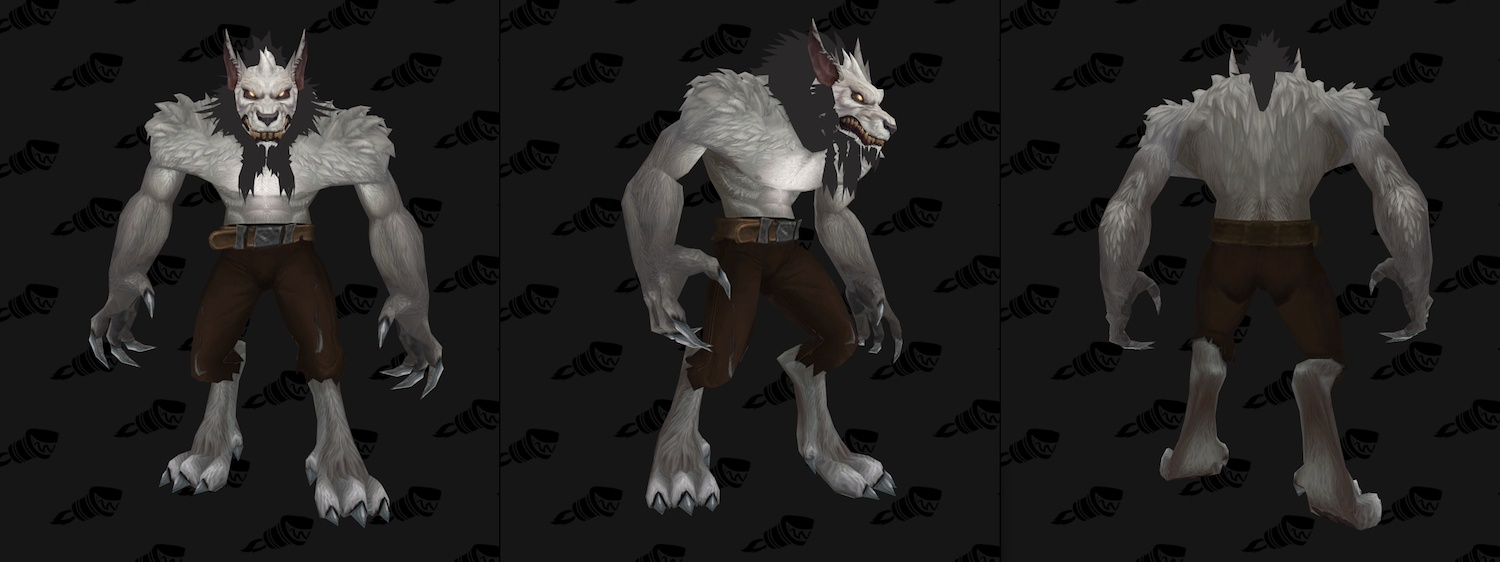 Genn Greymane, the Man and the Wolf: Recolor and new Worgen Model