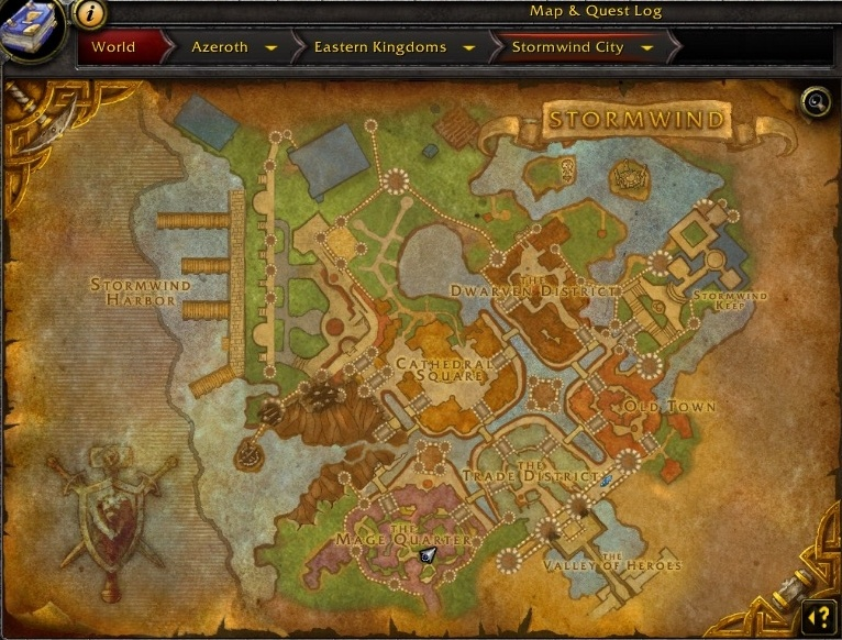 New player guide what is a zone guides wowhead there is also a minimap at the top right of the screen which shows whats in the immediate nearby area you can track specific things on your map to open gumiabroncs Choice Image