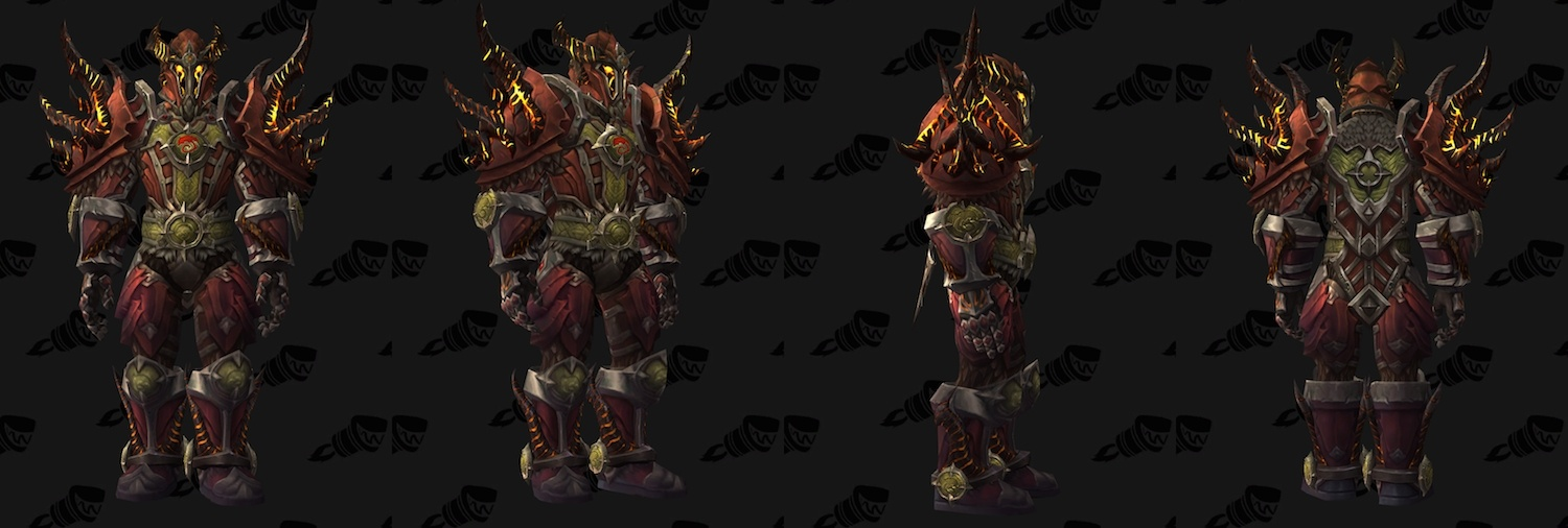 Legion Warrior Spotlight Tier 19 Armor Models And Artifact Weapon