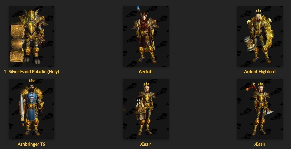 Class Hall Armor Sets: Acquisition and Appearances - Guides