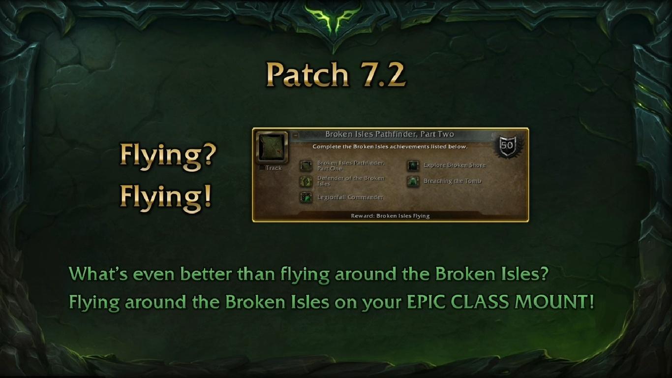 Legion Flying in 7 2: Broken Isles Pathfinder Tool, Flying