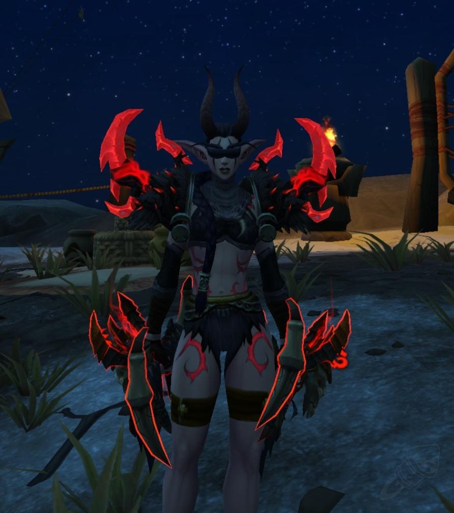 Undead Male Destruction Warlock Artifact Transmog World Of Warcraft Set Ideas