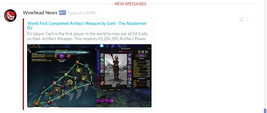 Site Updates: Wowhead News Alerts for Discord, Layout Improvements