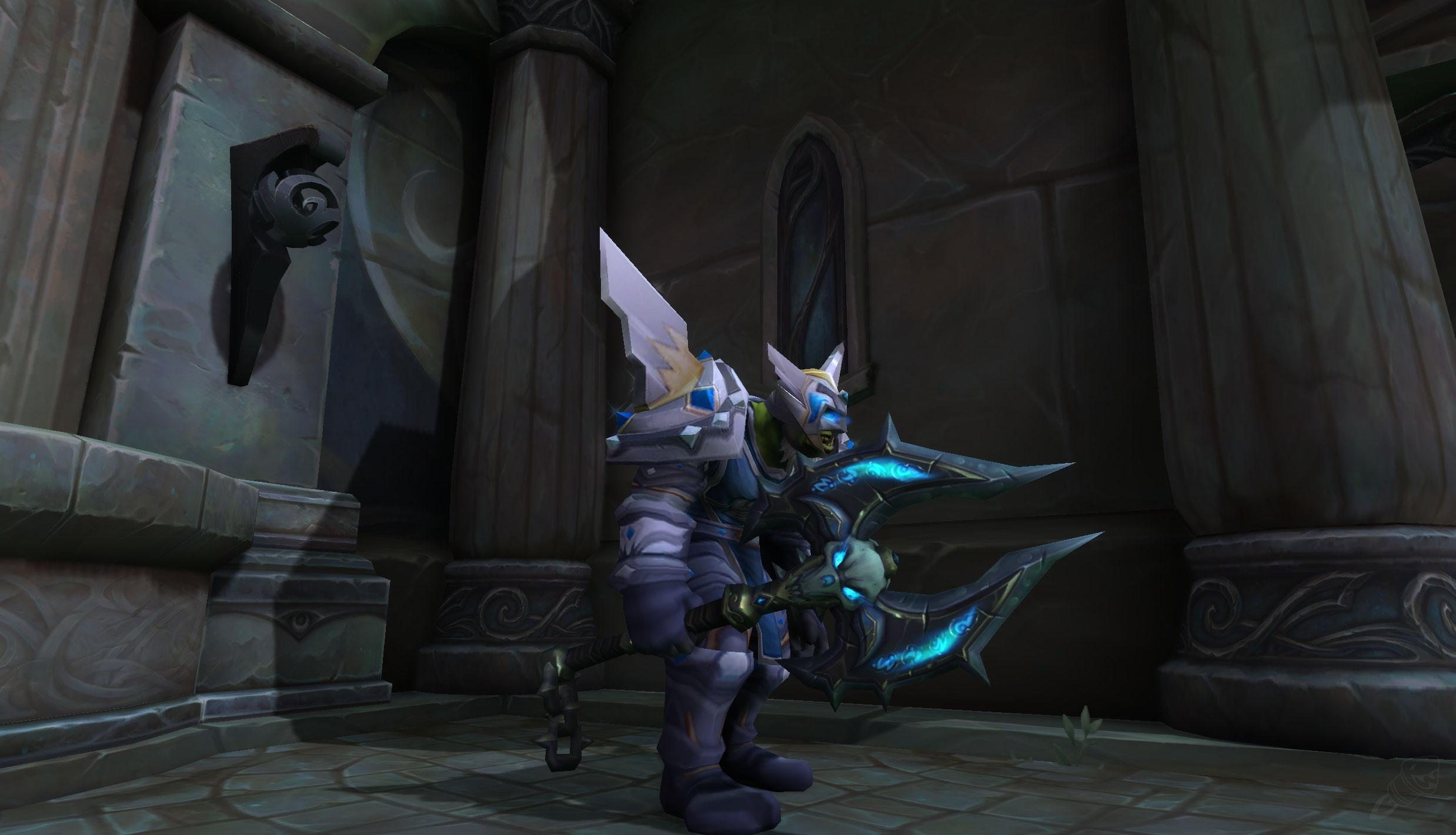 Icy Ebon Axe Item World Of Warcraft