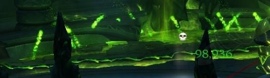 Гейзеры лавы, расположенные в углах площадки, поочередно взрываются. Взрывы похожи на огненные шары.