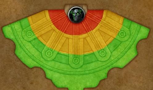 Разлом реальностей: игроки в зеленой зоне получают незначительный урон, игроки в желтой зоне получают ощутимый урон, игроки в красной зоне погибают.