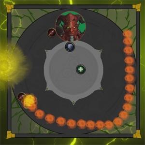 Игроки, ставшие целью дляПылающая сфера, должны водить свою сферу как можно дольше, чтобы огненные лужи были как можно меньше. Следует отметить, что разломы время от времени уничтожают эти огненные лужи.