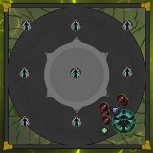 Игроки, встретившиеся с Иллиданом, получают эффект Зрение Иллидана, позволяющий им видетьТемная душав тумане.