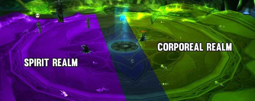 Игроки из разных миров должны держаться подальше друг от друга. В противном случае они будут получать урон отДиссонанс. Разделите комнату на две части, чтобы обе группы знали, где им следует находиться.