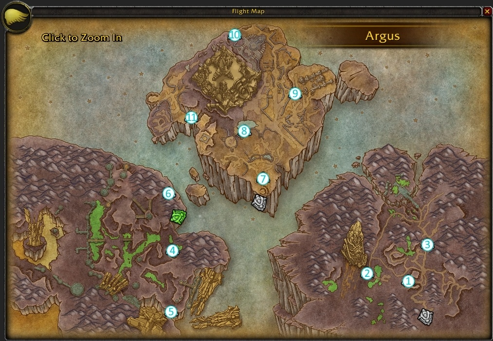 how to continue the argus quest chain after antoran wastes