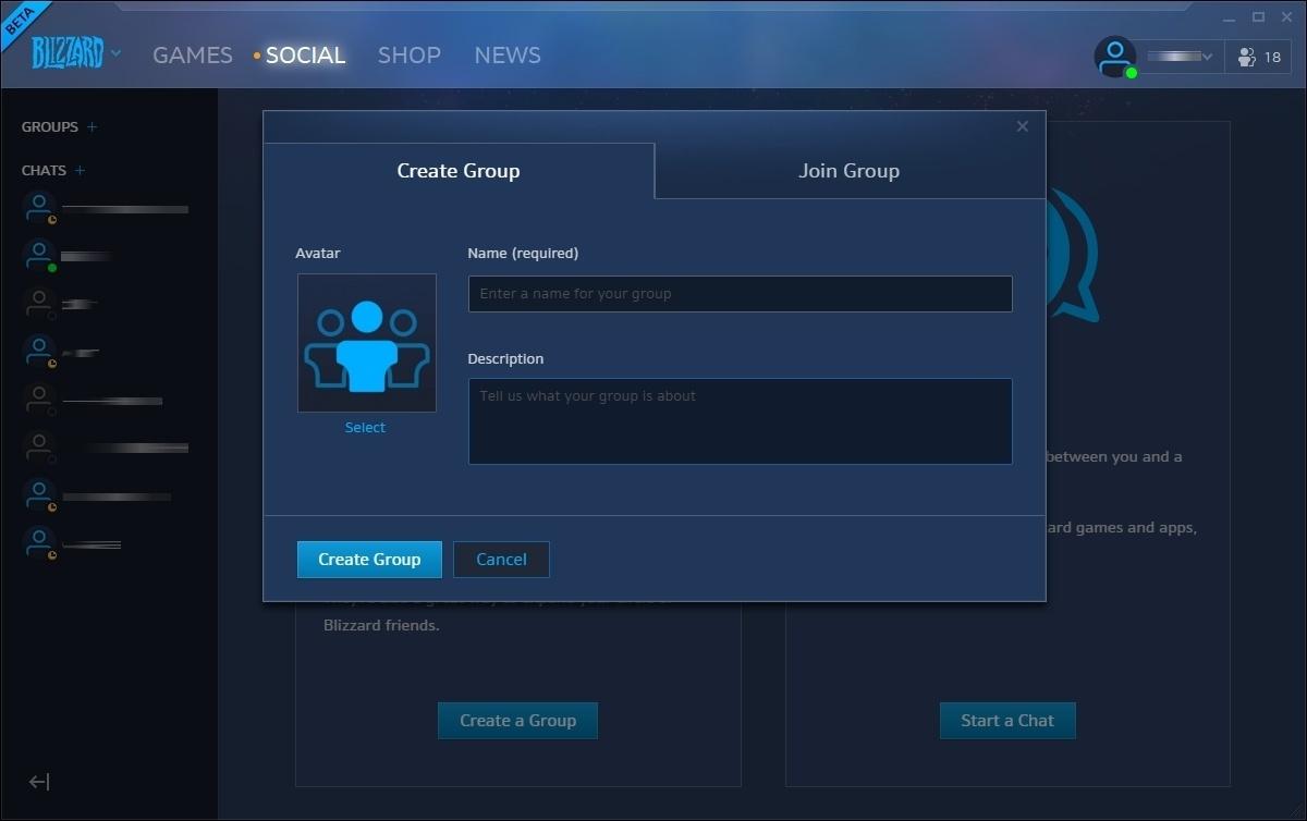 Blizzard app profile picture