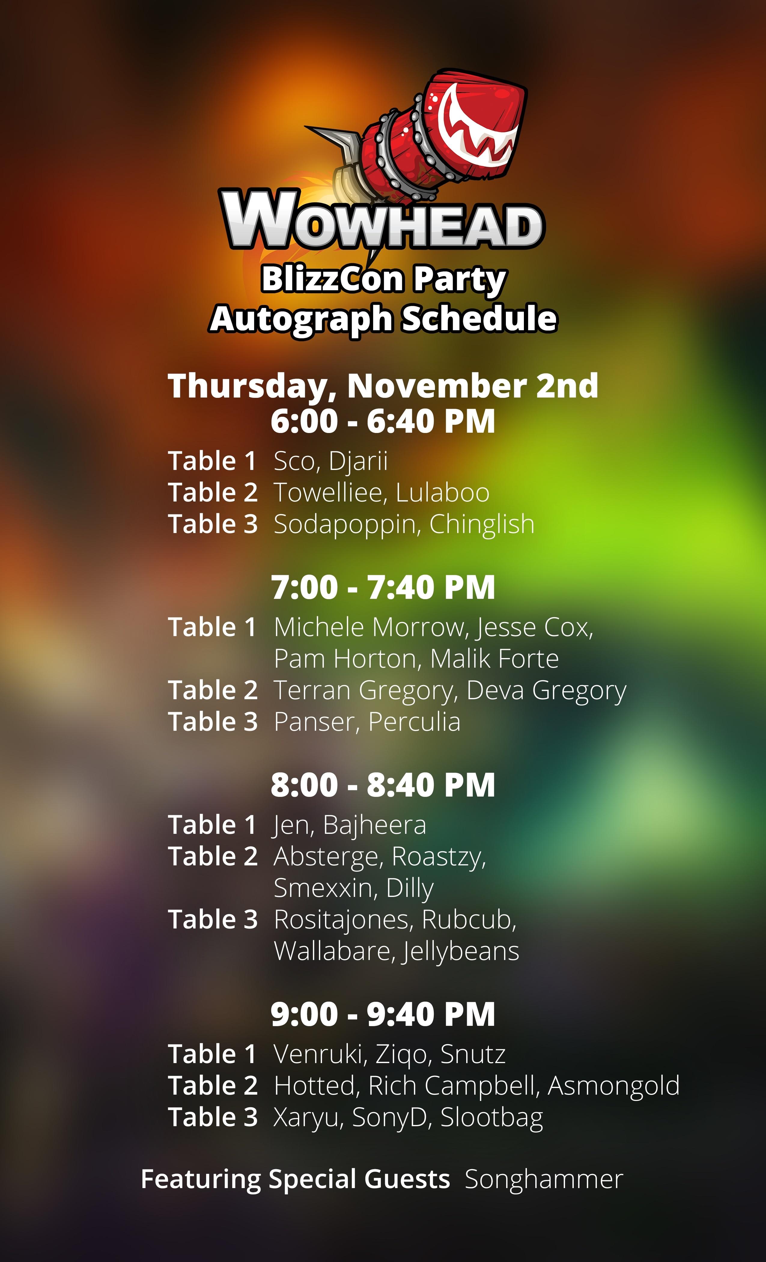 Wowhead Blizzcon 2017 Party Meet And Greet Wowhead News