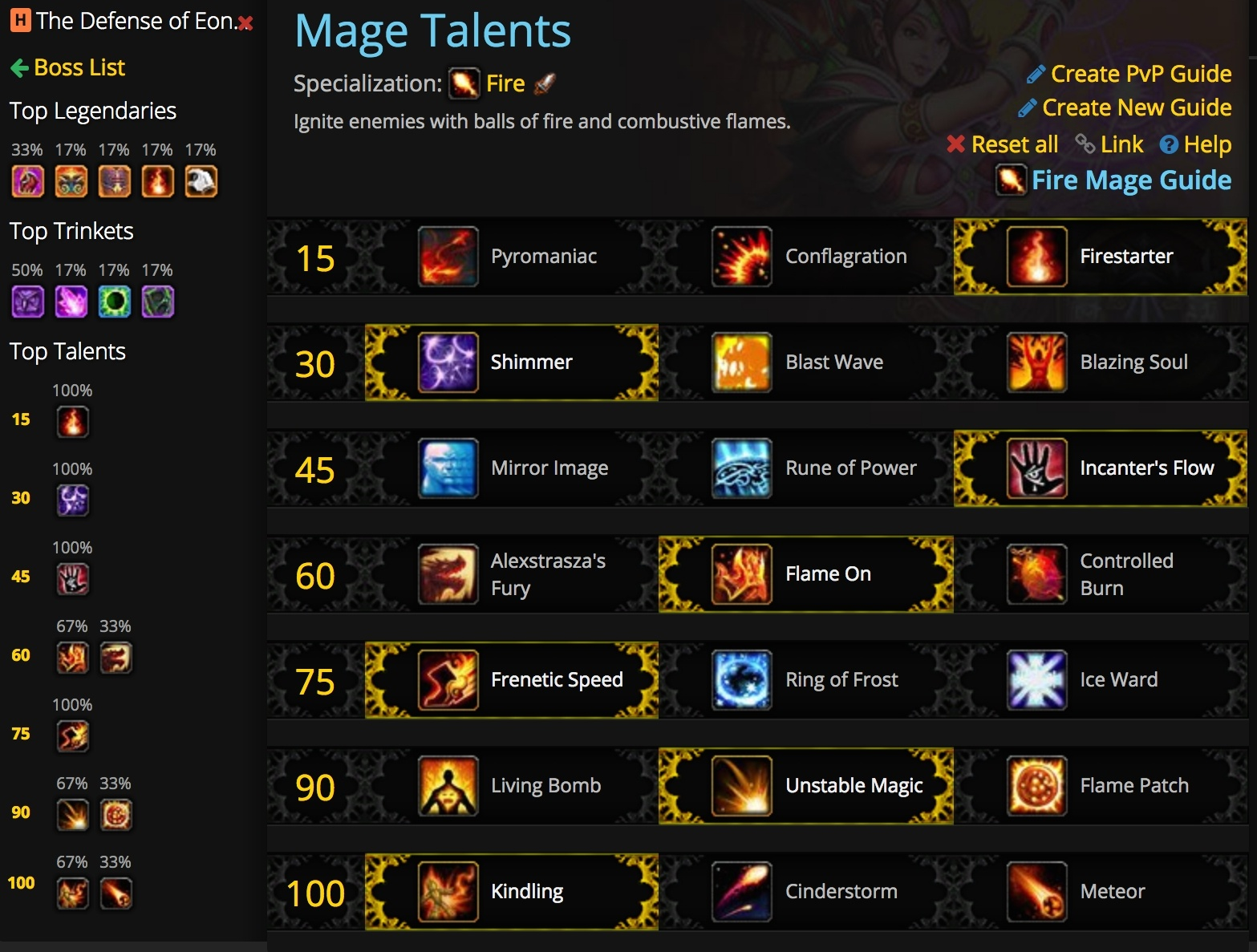 Talent Calculator Now Supports Top Heroic Antorus Builds and