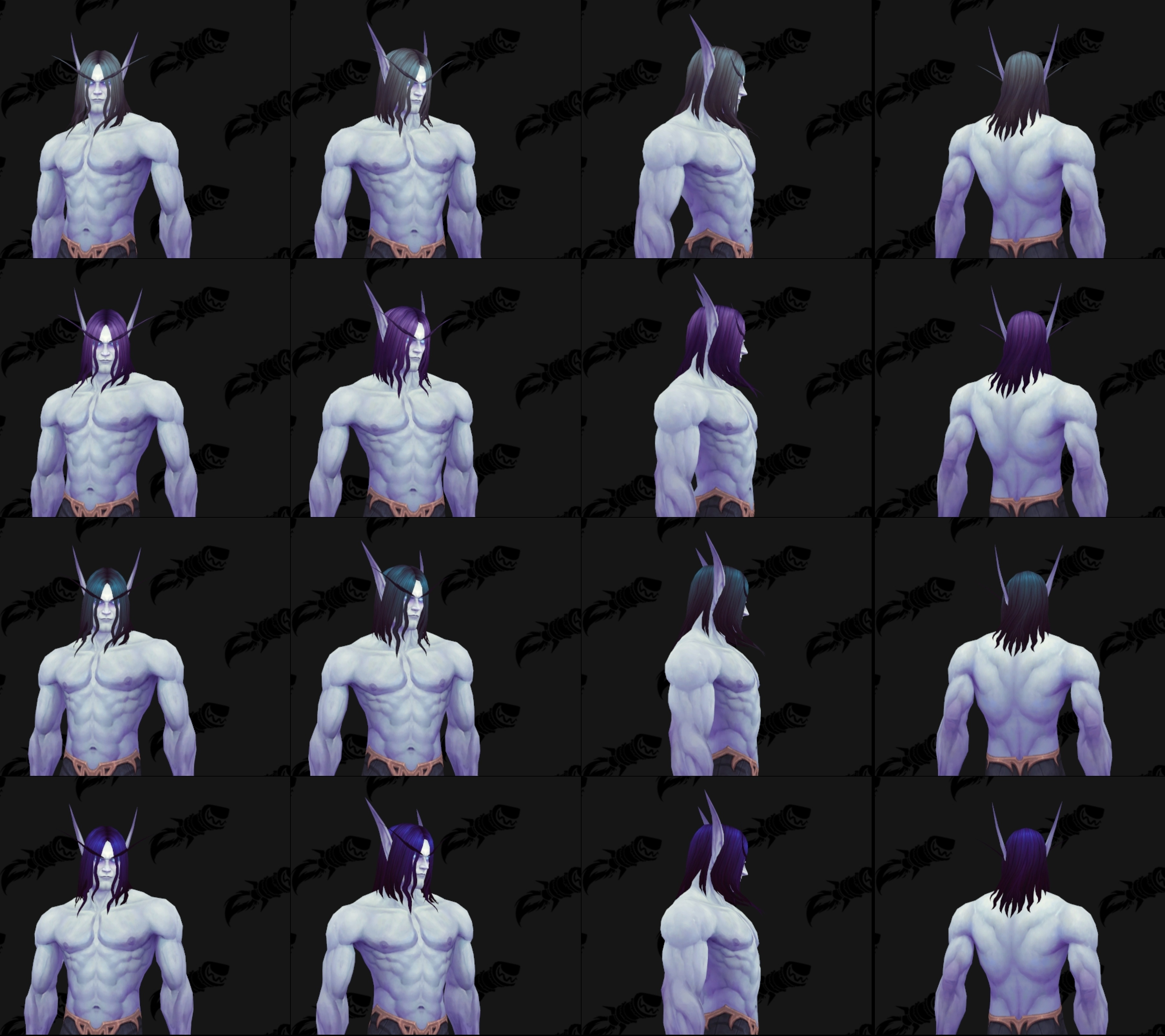 Void Elf Male And Female Allied Race Customization Options