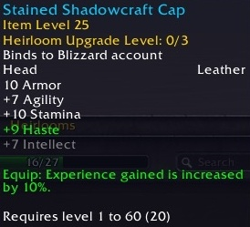 Leveling Changes on the 7 3 5 PTR - Experience, Heirlooms