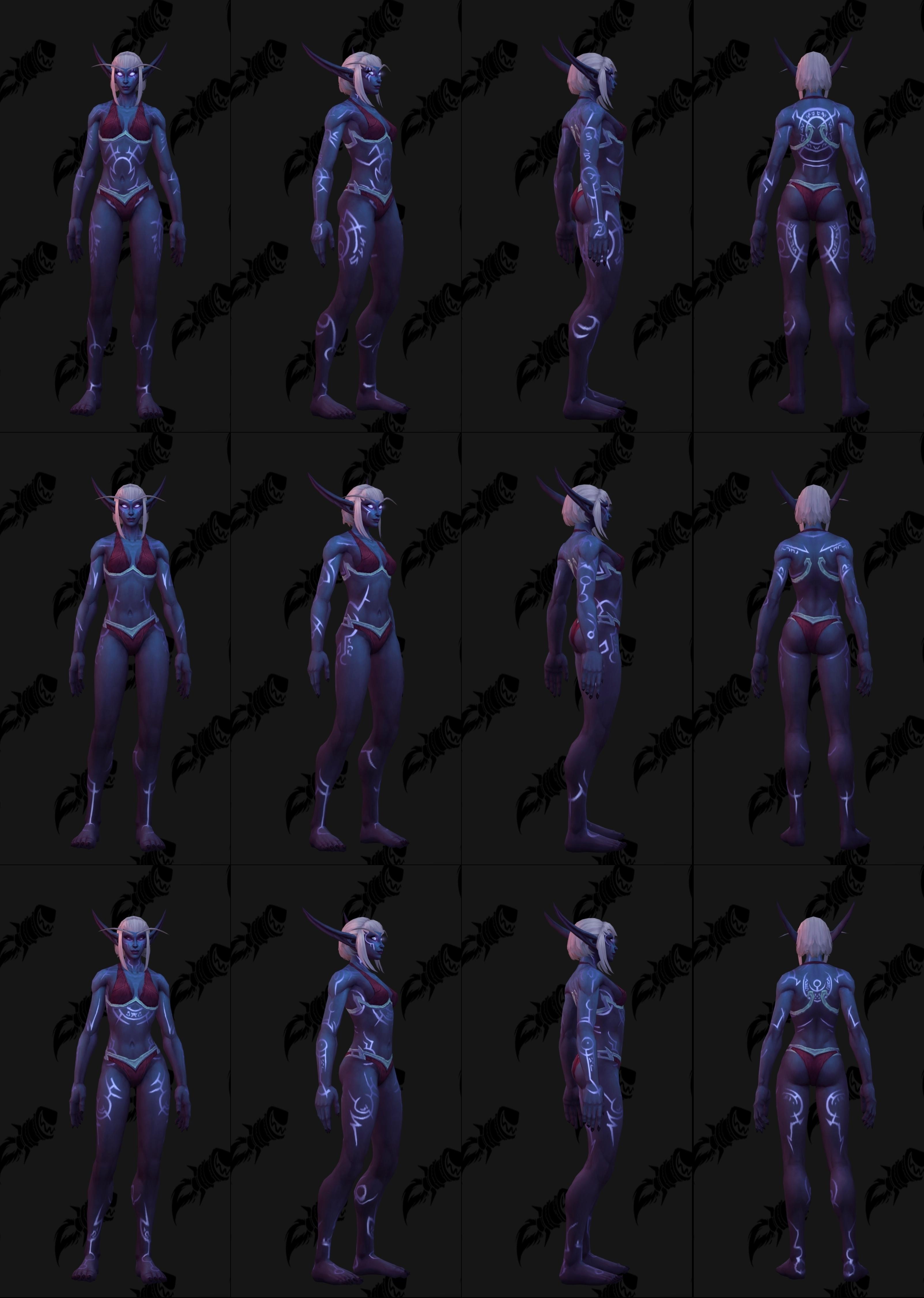 Nightborne Male and Female Allied Race Customization Options