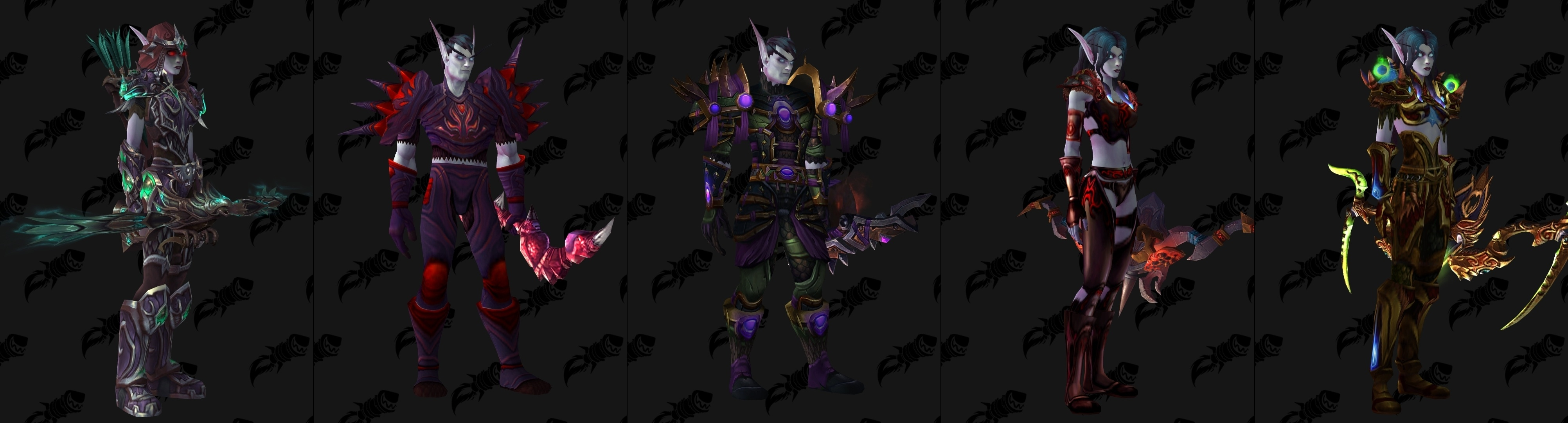 Void Elf Allied Race Transmog Suggestions Wowhead News With patch 8.1, heritage sets were added for dwarves and blood elves. void elf allied race transmog