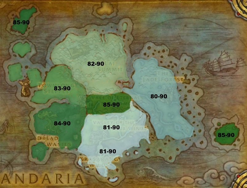 Leveling from 80-90: Cataclysm and Mists of Pandaria
