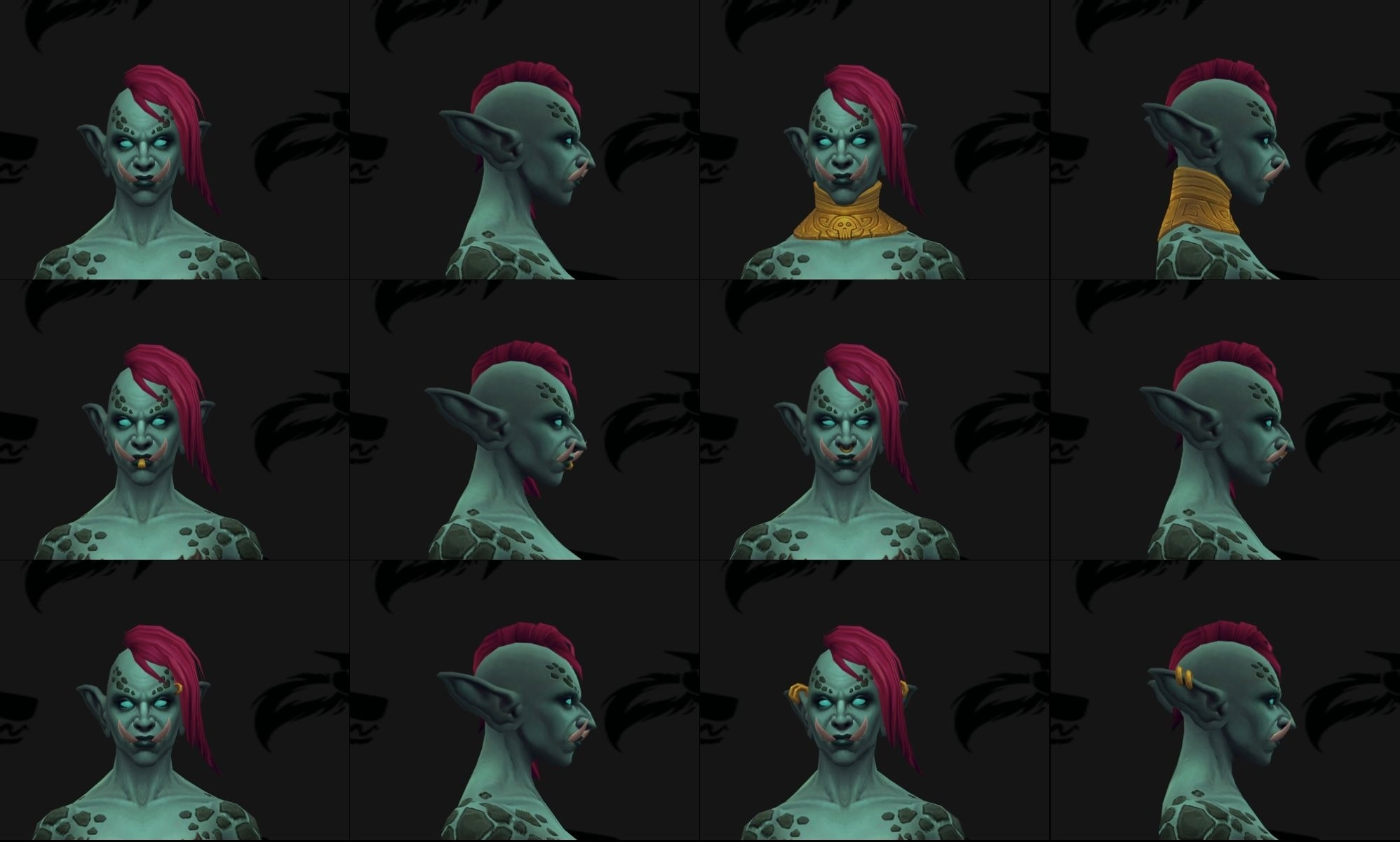 Zandalari troll male and female allied race customization options accessories tattoo hair color nvjuhfo Choice Image