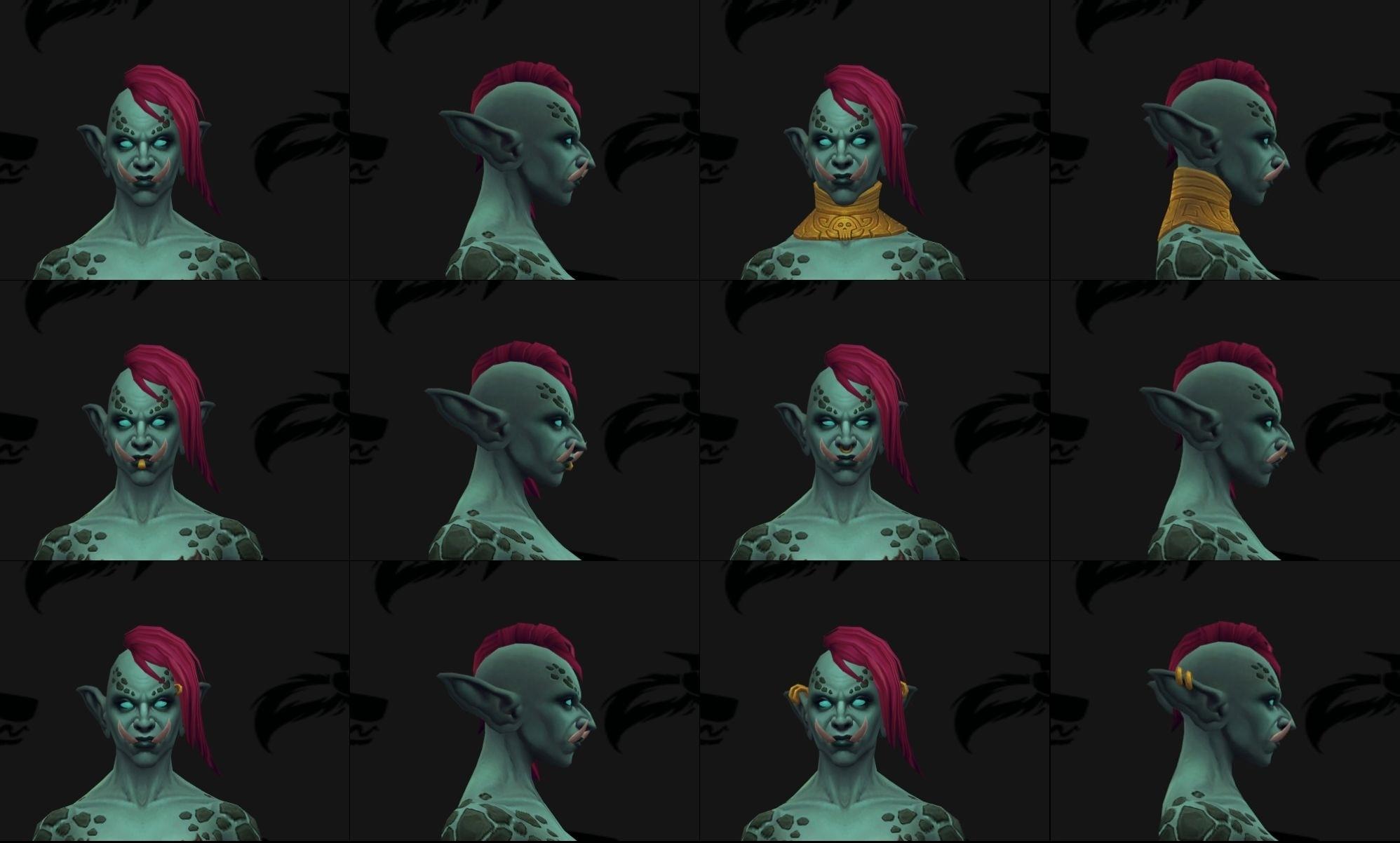 Zandalari Troll Male and Female Allied Race Customization Options ... be43324536