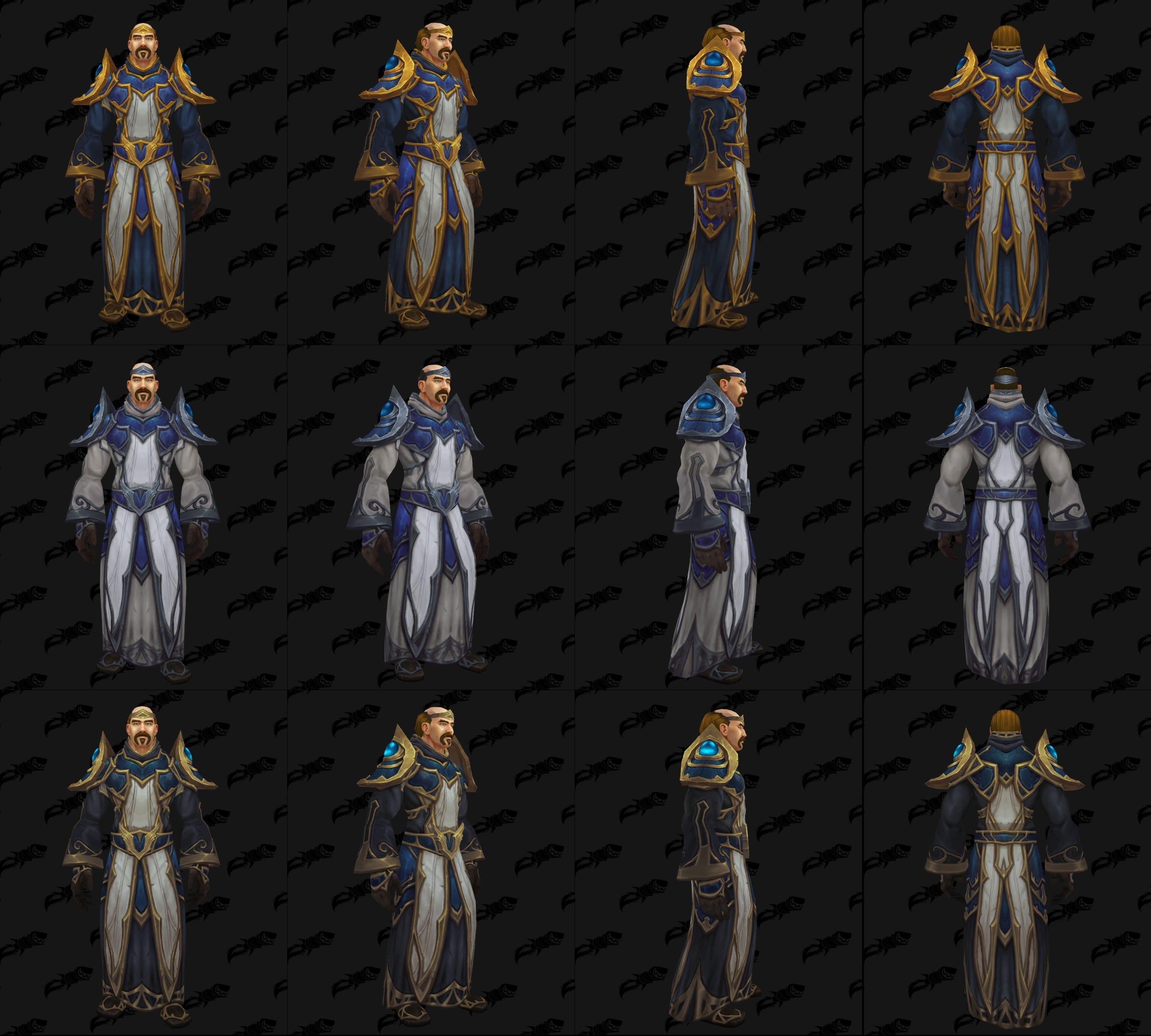 Battle for Azeroth Armor - Warfronts, Dark Iron, Zandalari