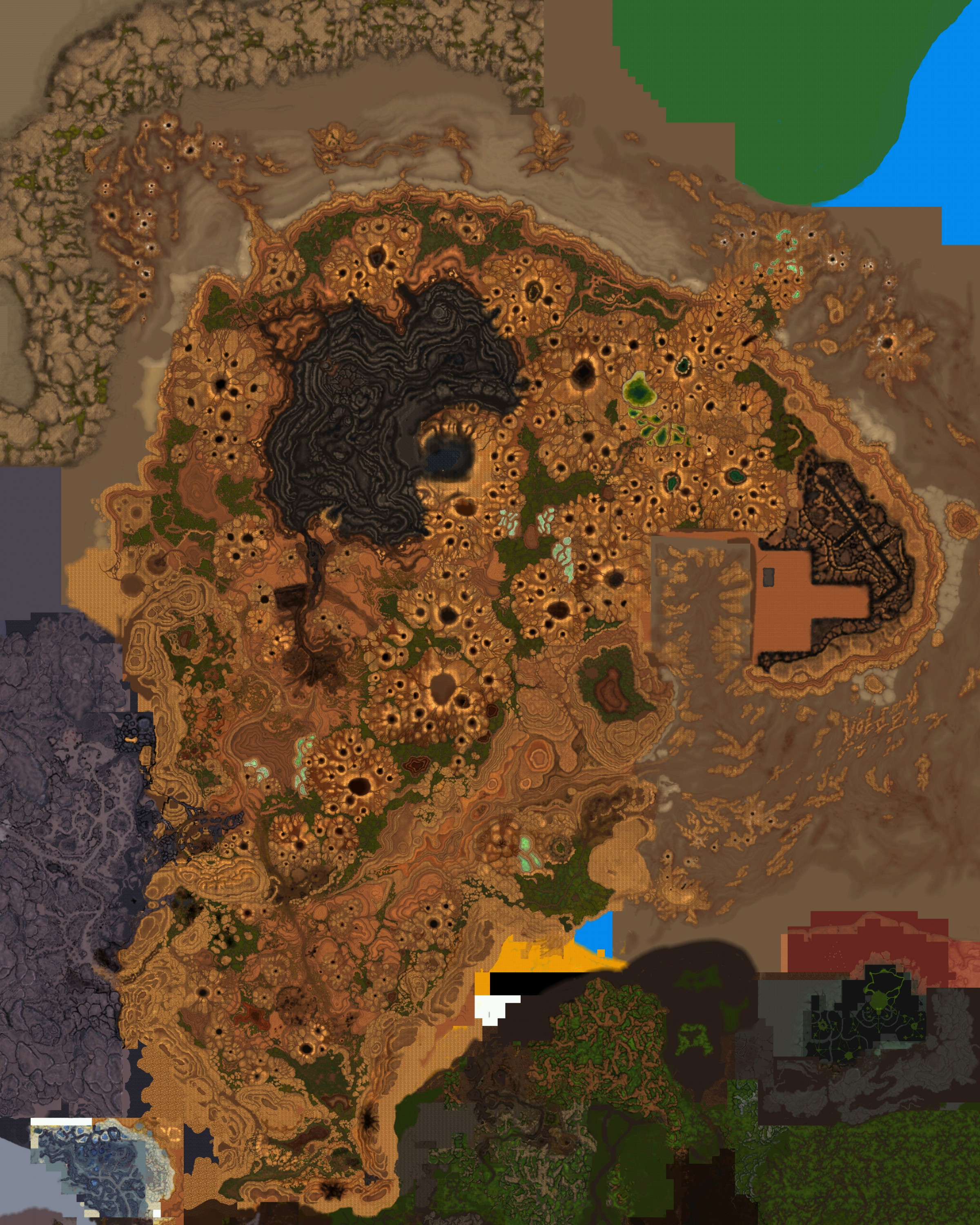 New Gorgrond Map In 26010 Draenor Orc Allied Race Speculation