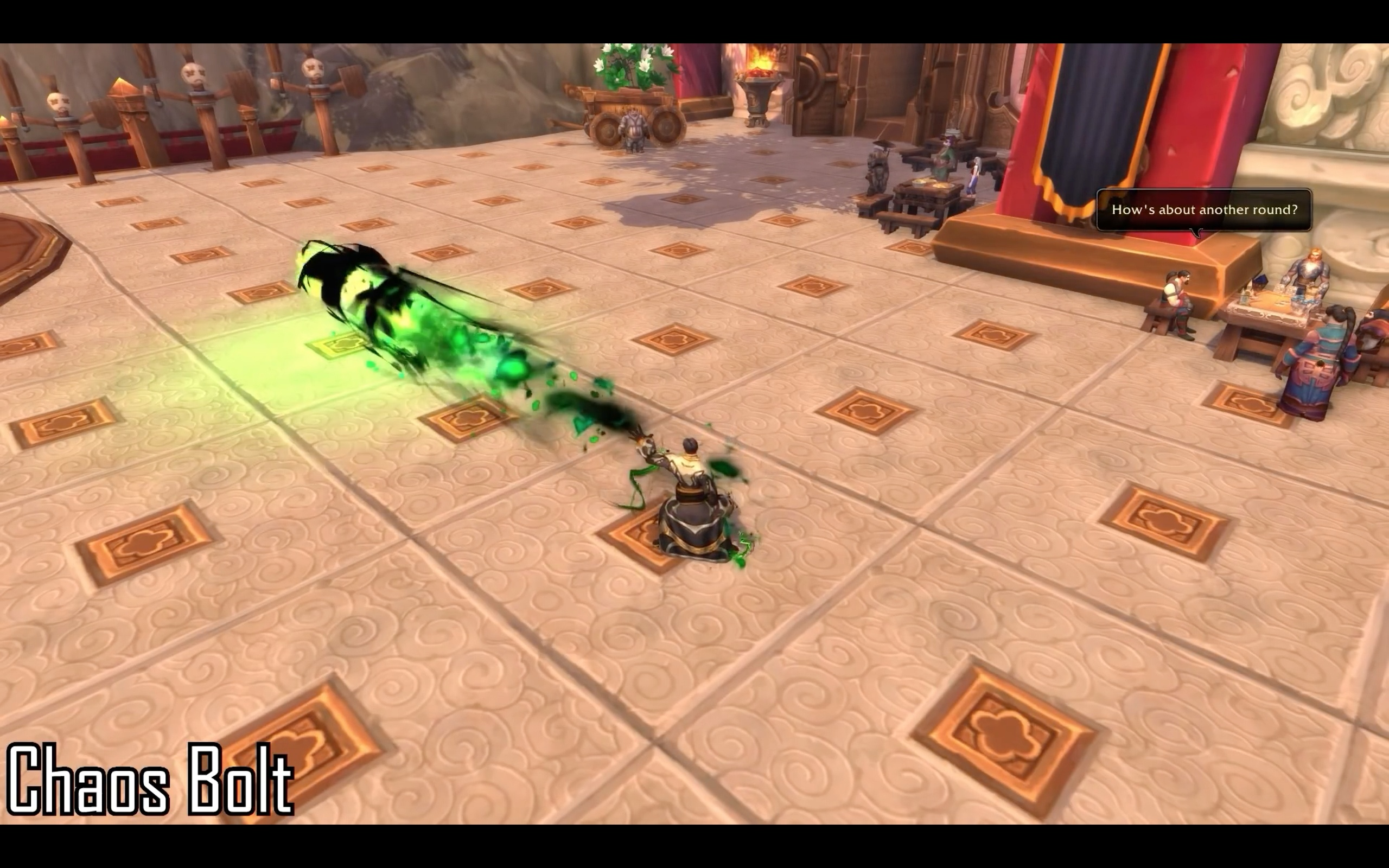 Destruction and Affliction Warlock Spell Animations - Battle