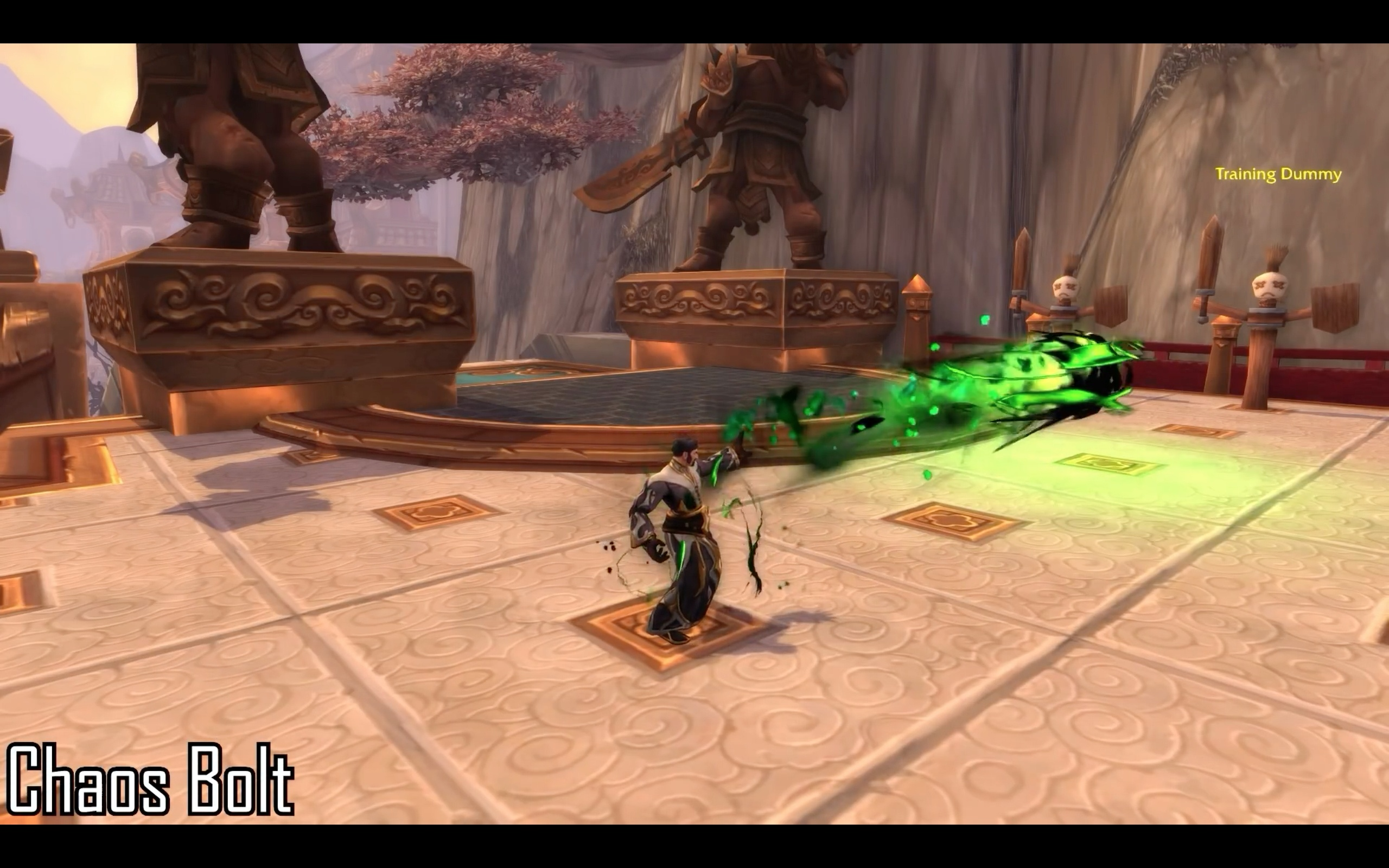 Destruction and Affliction Warlock Spell Animations - Battle for