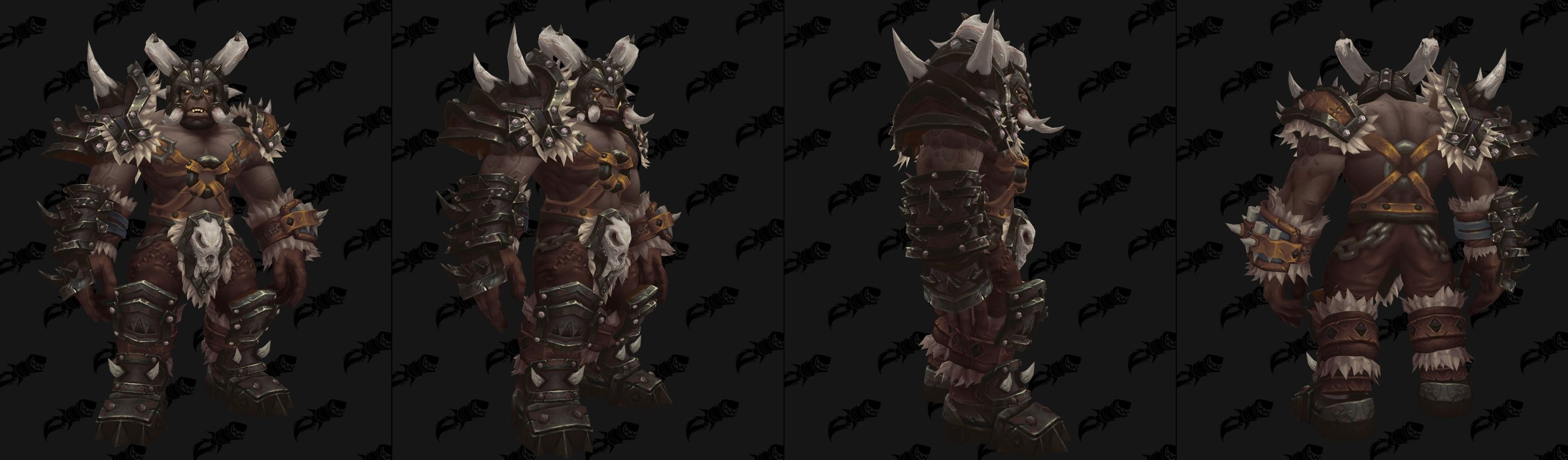 Maghar Orc Heritage Armor Blackrock And Frostwolf Clan Tints