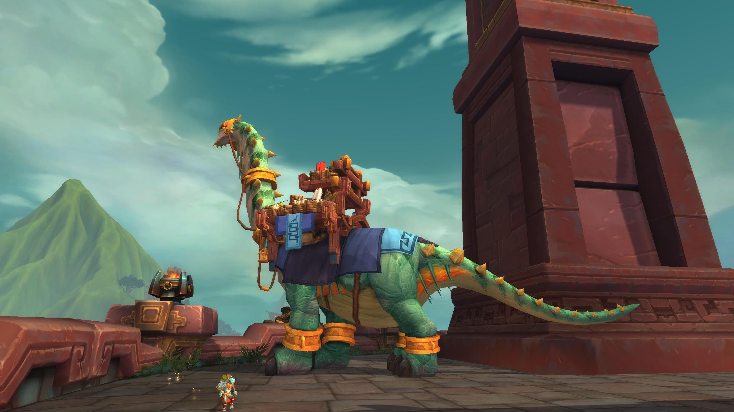 Brutosaur Dinosaur Mount - Battle for Azeroth Model Preview