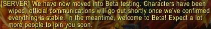 Battle for Azeroth Beta Started