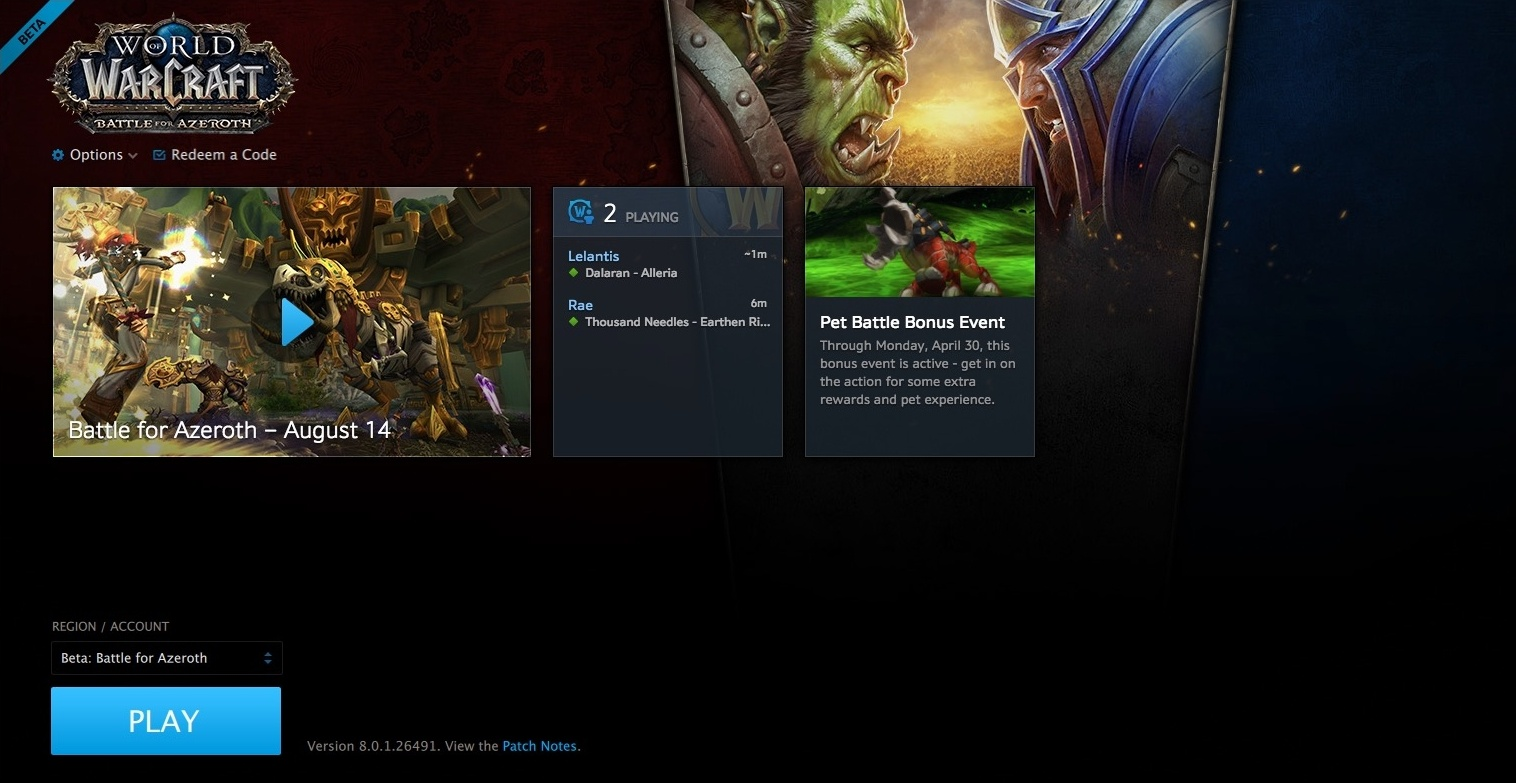 Battle for Azeroth Beta Started - Wowhead News