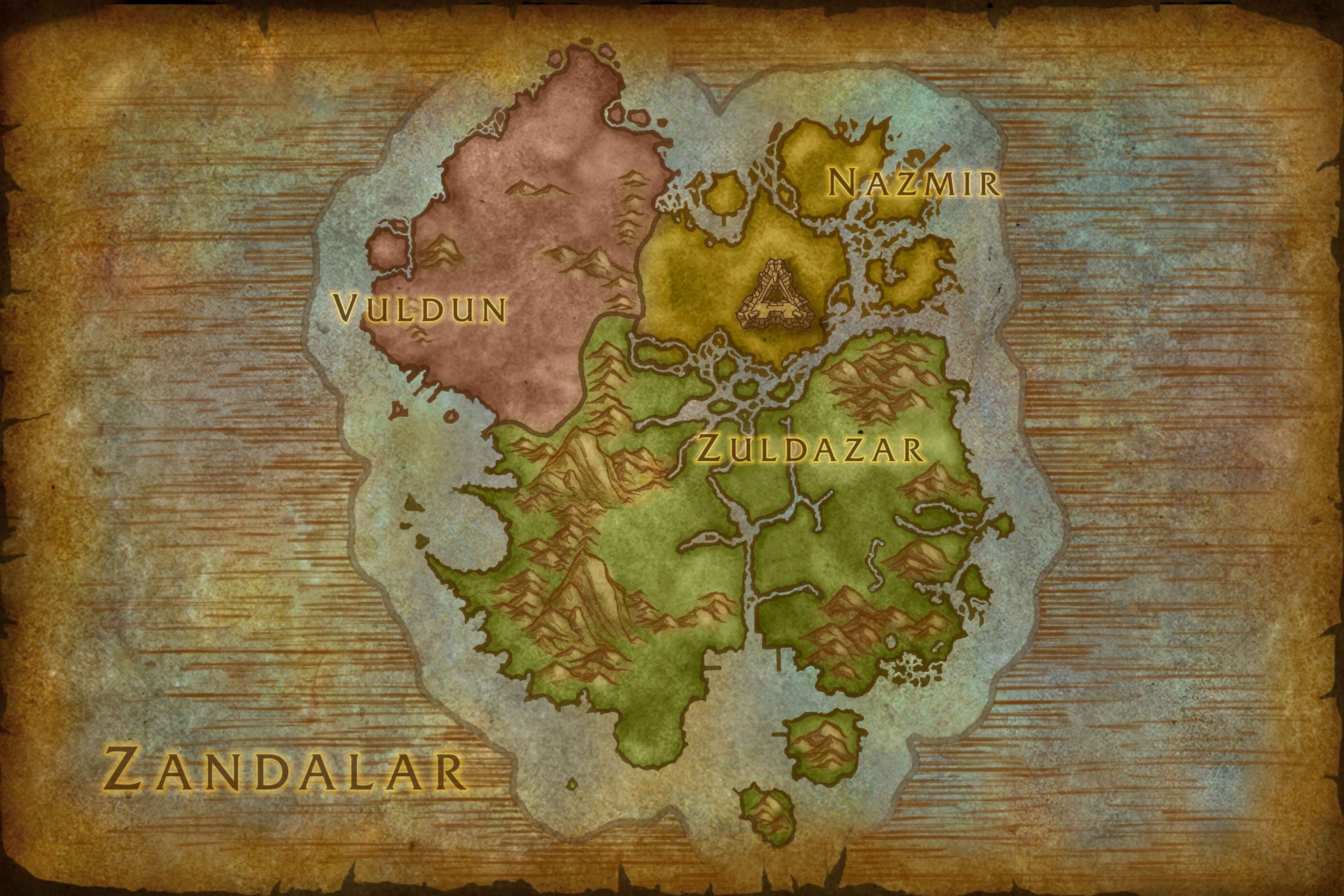 Battle for Azeroth Beta 26567 - Kul Tiras, Zandalar and World Maps ...