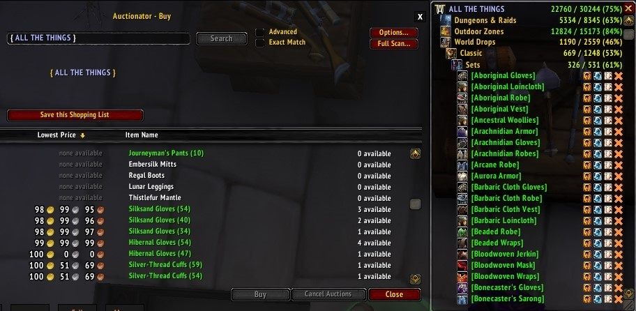 All The Things Collection Tracking Addon Guides Wowhead