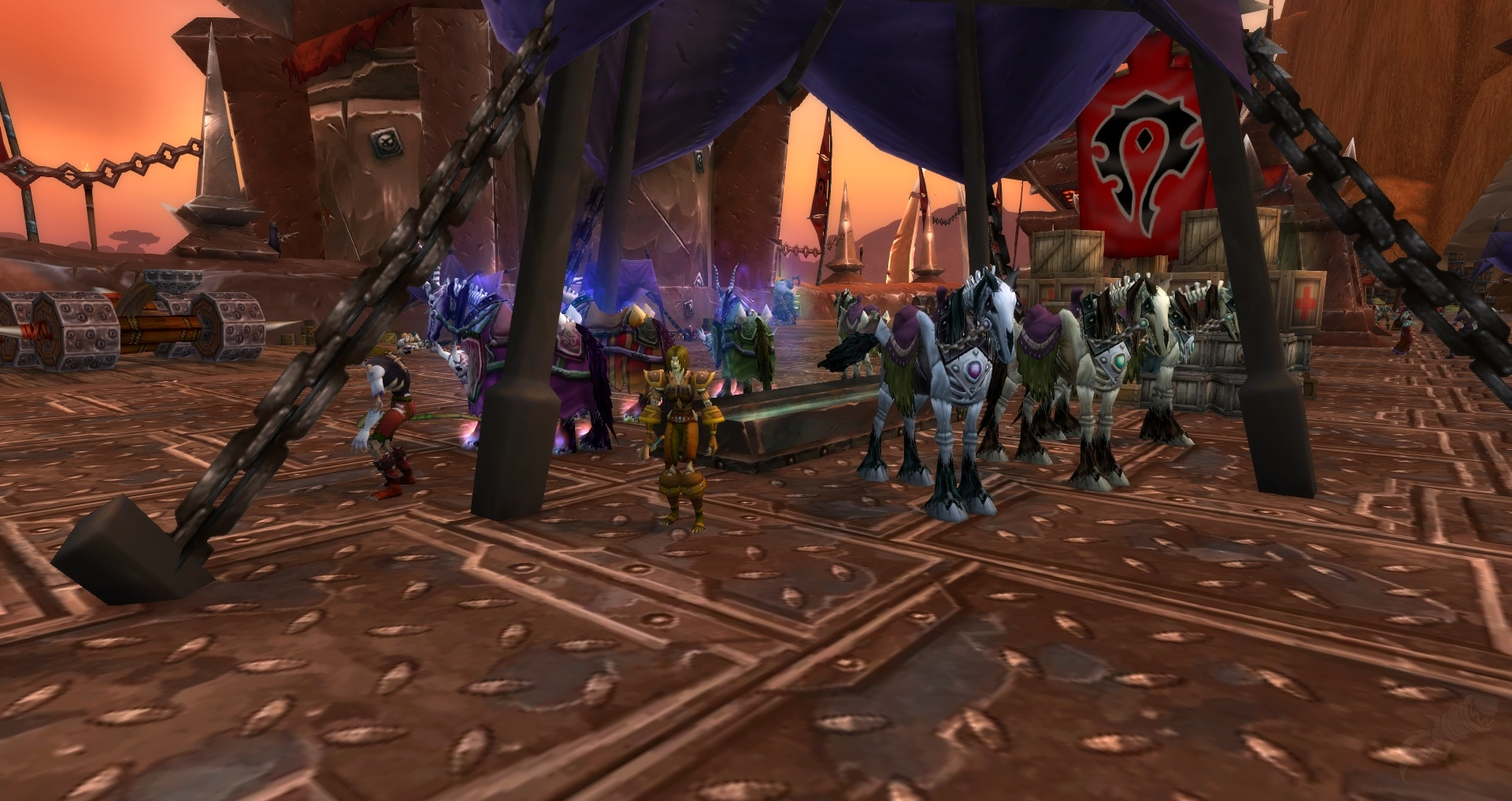 Stormwind and Orgrimmar 26624 Updates - Refugee Camps, God of War