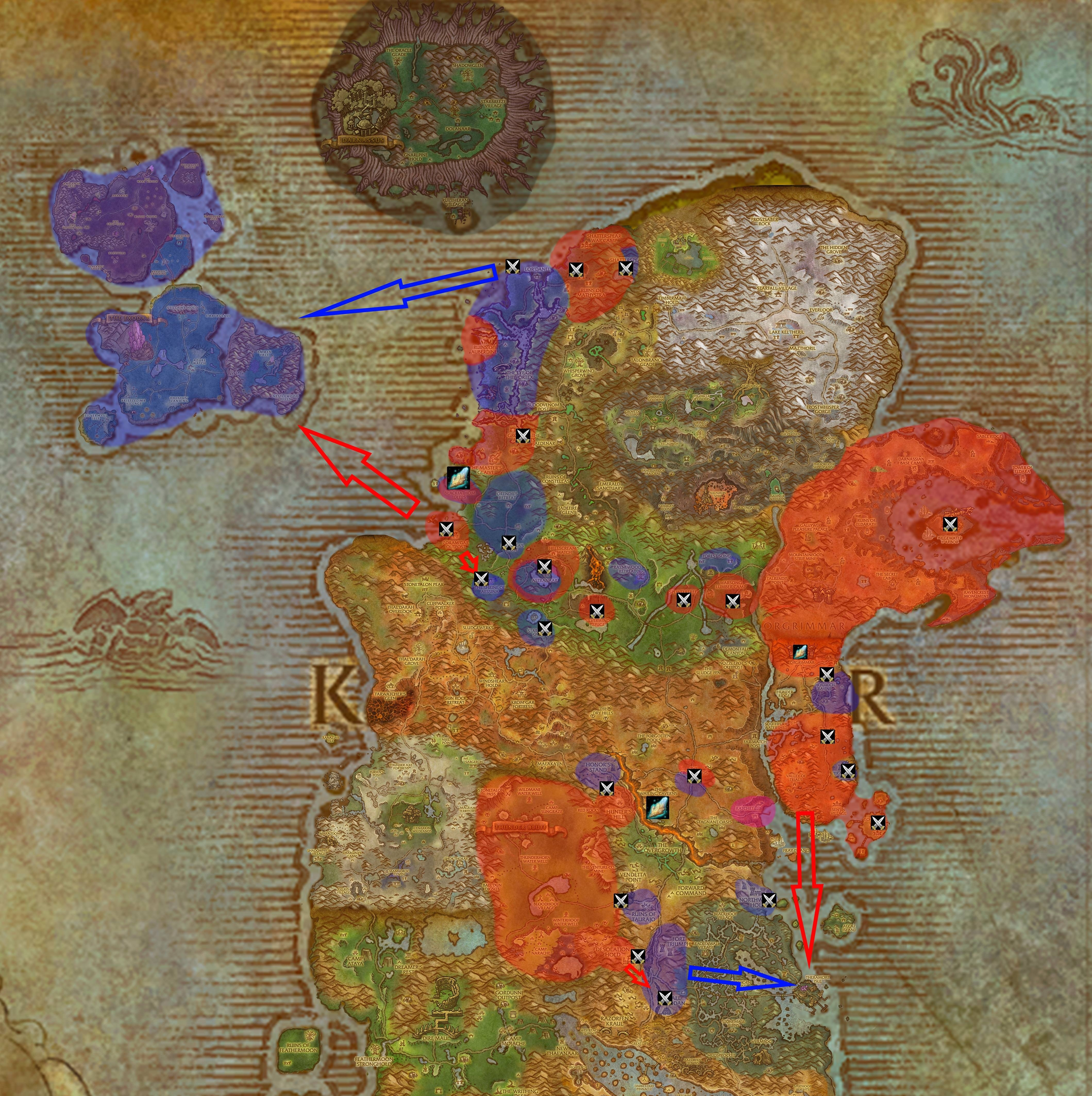 The state of Kalimdor and Eastern Kingdoms in BfA (Spoilers) : wow