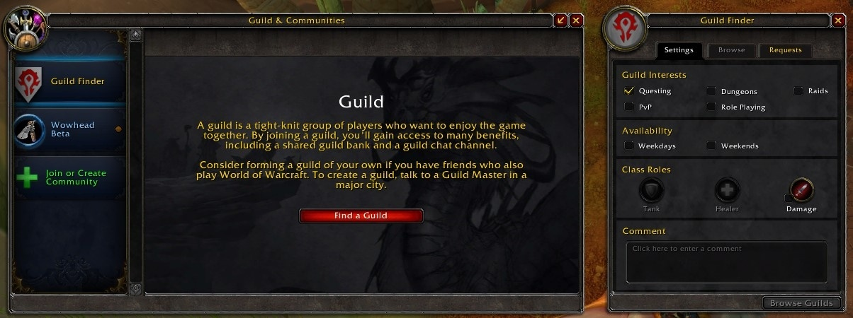 Battle For Azeroth Beta In Game Guild Community Ui Updates