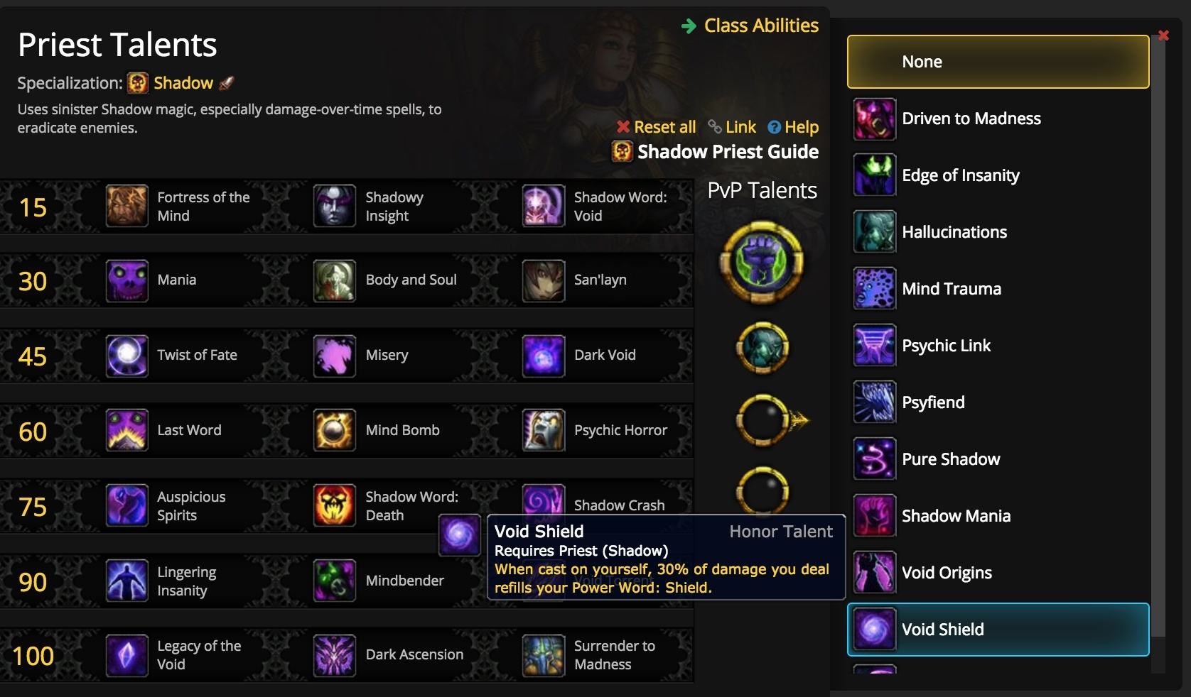 Pvp Talents From War Mode Guides Wowhead