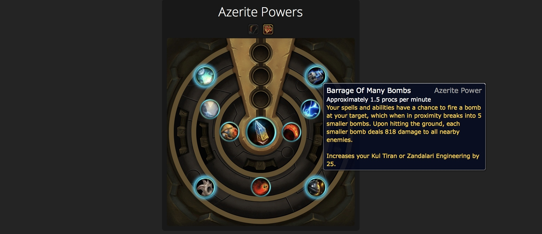 Azerite Power Finder Tool - Look Up Armor with Specific