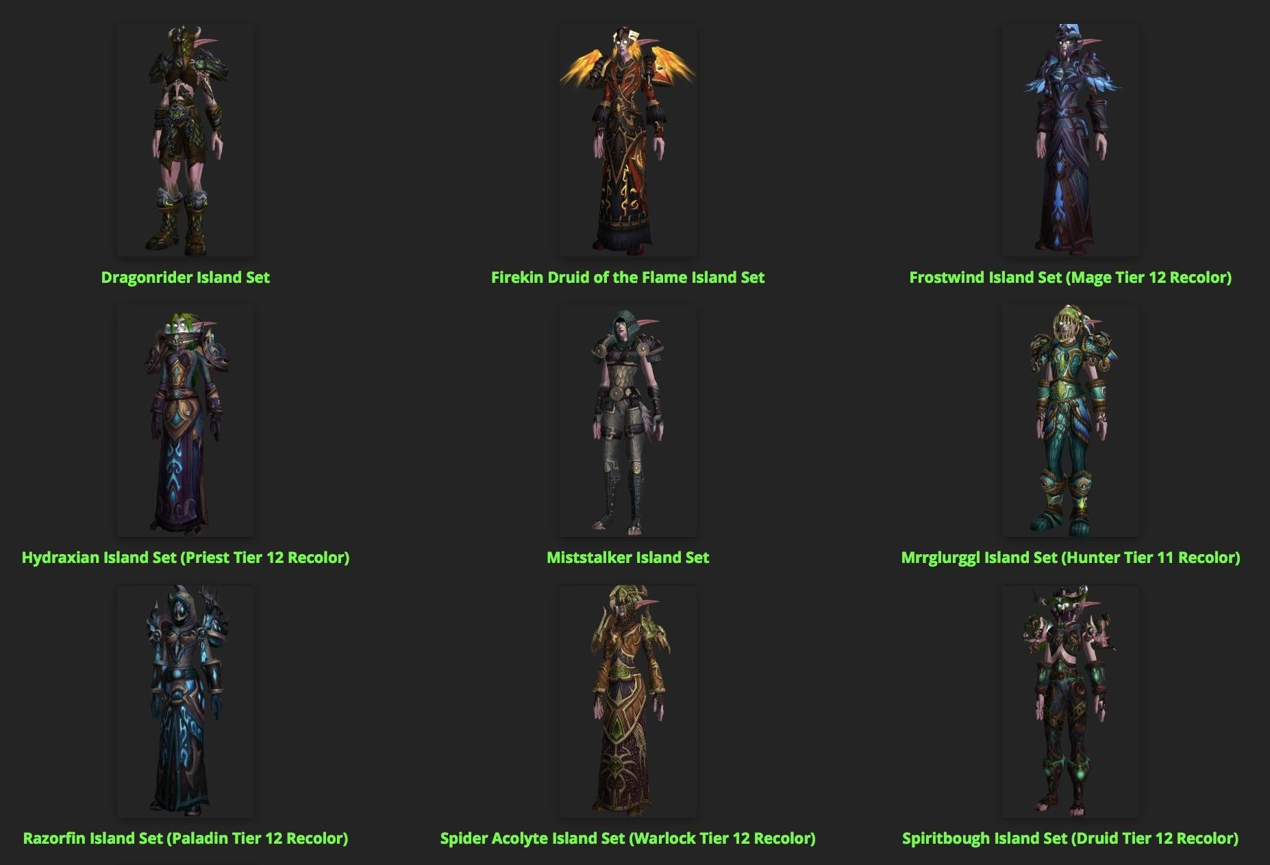 Battle for Azeroth Transmog Armor Sets - Wowhead News