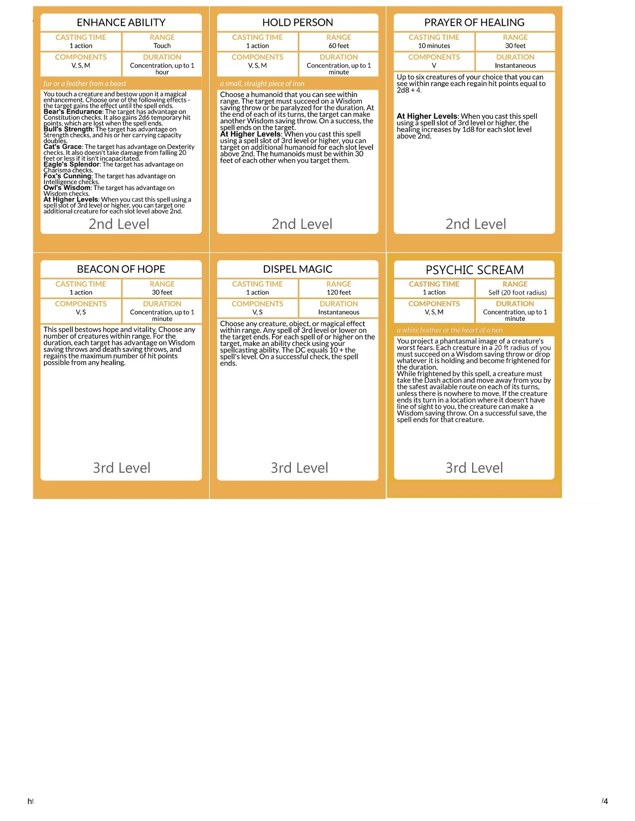 Matthew Mercer's D&D Character Sheets for WoW Classes