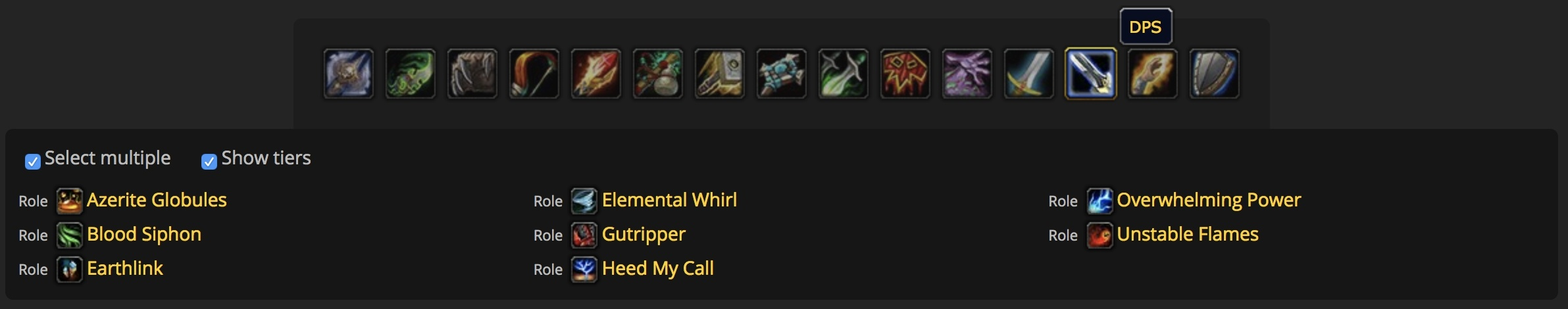 Azerite Power Finder Tool - Look Up Armor with Specific Azerite