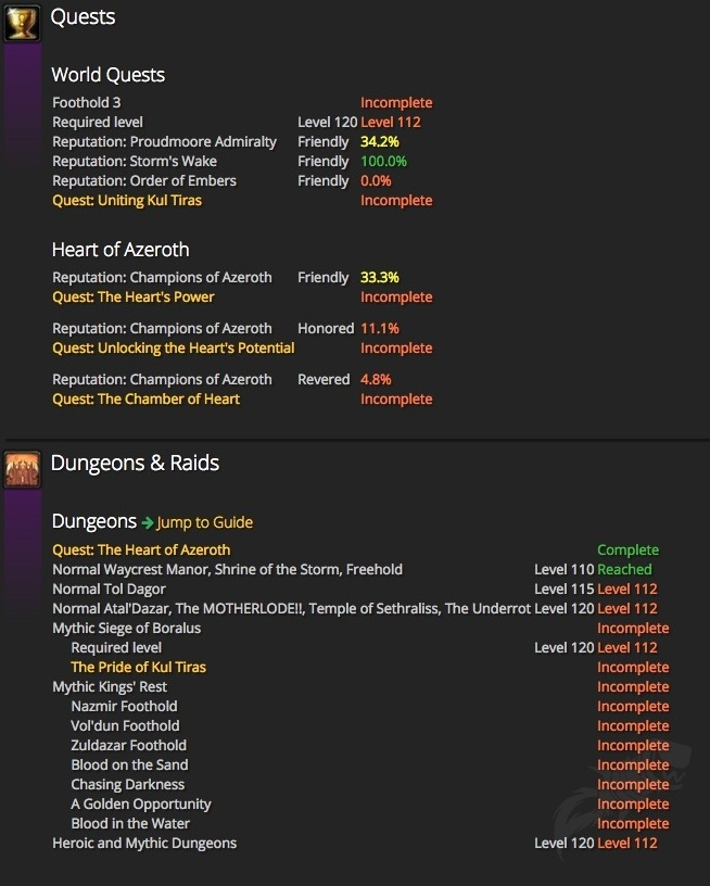 Battle for Azeroth Attunement Requirements and Unlocks