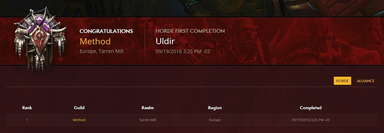 Battle for Azeroth Mythic Uldir Leaderboards Now Live
