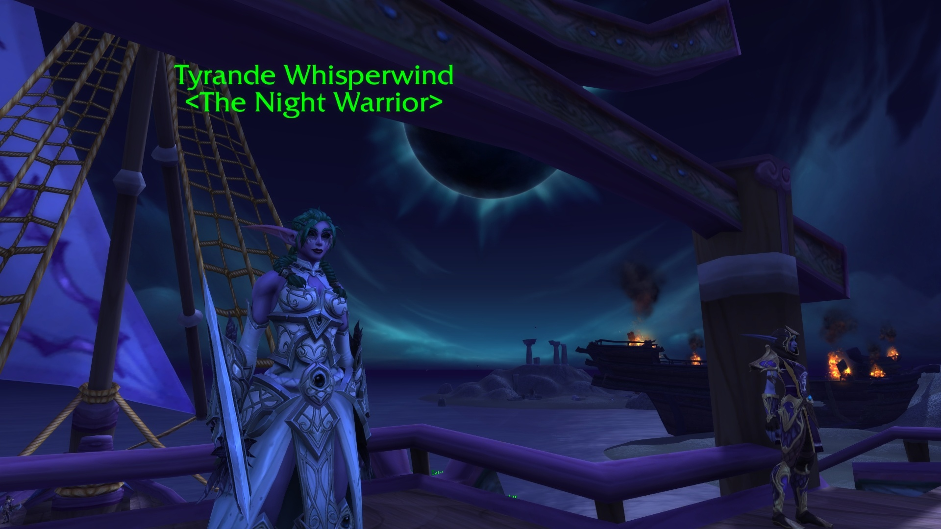 Tyrande Whisperwind Says You Will Not See Another Sunrise Monster Nathanos Blightcaller How Uncouth For The Queen Of Tree Elves Is It
