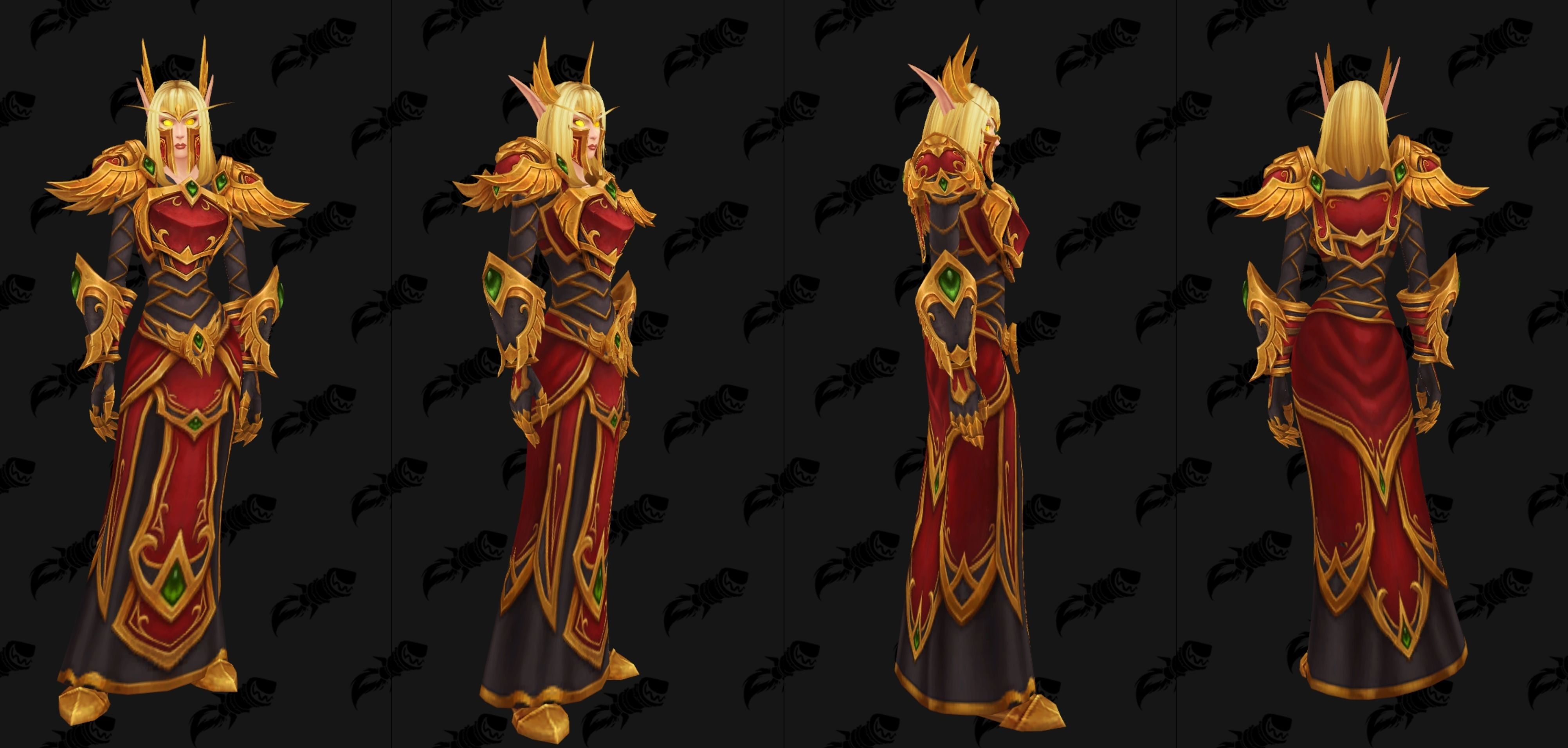 Blood Elf Heritage Armor Preview Their cosmetic nature means they are transmoggable over any armor type, from plate to cloth. blood elf heritage armor preview