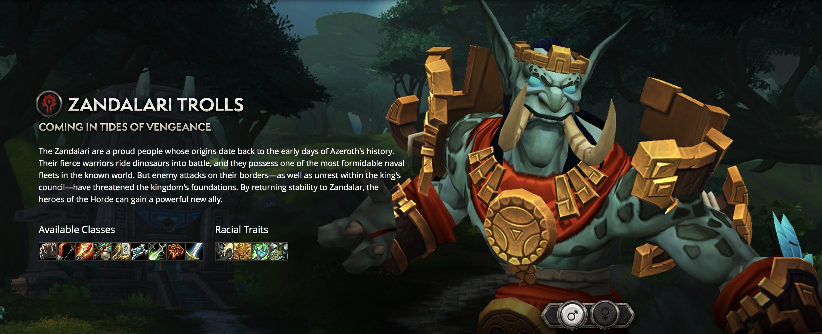 Zandalari Trolls Can Be Paladins - Available Classes and