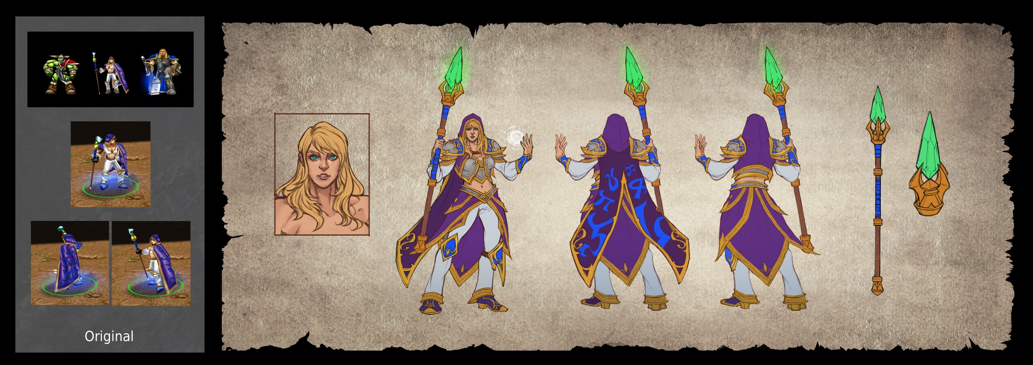 Warcraft III Details from Game Informer - Concept Art, Story